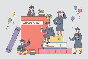 poster del concetto di educazione. vettore