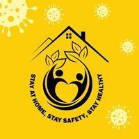 rimanere a casa il più a lungo possibile per stare al sicuro vettore