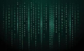 sfondo tecnologia astratta. dati binari e sfondo di codice binario in streaming. illustrazione vettoriale eps10