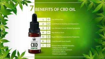 usi medici per l'olio di cbd, benefici dell'uso dell'olio di cbd. vettore