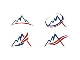 icona del logo illustrazione di montagna