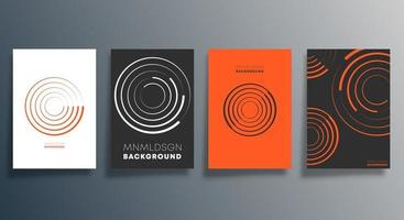 design geometrico minimale per flyer, poster, copertina di brochure, sfondo, carta da parati, tipografia o altri prodotti di stampa. illustrazione vettoriale