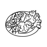 icona bulgogi. Doodle disegnato a mano o icona stile contorno