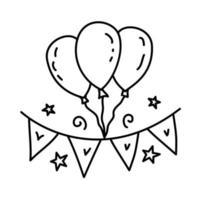icona di arredamento. gioco da ragazzi disegnati a mano o contorno nero icona stile vettore