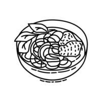 icona di pho. Doodle disegnato a mano o icona stile contorno