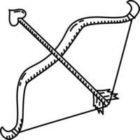 icona della freccia. gioco da ragazzi disegnati a mano o contorno nero icona stile. icona del vettore