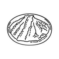icona di miso. Doodle disegnato a mano o icona stile contorno