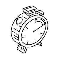 icona di consegna veloce. Doodle disegnato a mano o icona stile contorno vettore