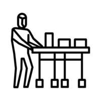 consegnare l'icona di farmaci. simbolo di attività o illustrazione per affrontare il virus corona vettore