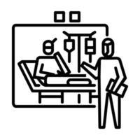 icona di quarantena. simbolo di attività o illustrazione per affrontare il virus corona vettore