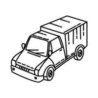 icona di trasporto. Doodle disegnato a mano o icona stile contorno vettore