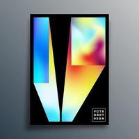 design minimale con trama sfumata per poster, carta da parati, volantini, copertina di brochure, tipografia o altri prodotti di stampa. illustrazione vettoriale