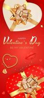 disegno di sfondo di San Valentino. modello per pubblicità, web, social media e annunci di moda. poster, flyer, biglietto di auguri, intestazione per illustrazione vettoriale sito Web