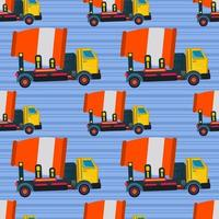 Illustrazione senza cuciture di vettore del modello del camion della betoniera