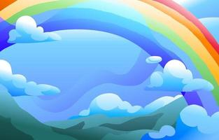 sfondo sfumato arcobaleno vettore