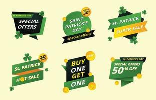 etichetta del giorno di San Patrizio per marketing e promozione vettore