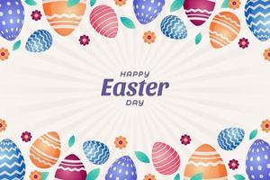 sfondo di uovo di Pasqua vettore