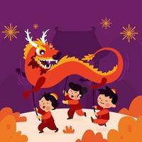 festival del capodanno cinese vettore