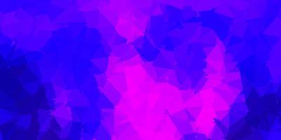 sfondo poligonale vettoriale viola scuro, rosa.