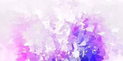 disposizione poligonale geometrica di vettore viola chiaro, rosa.