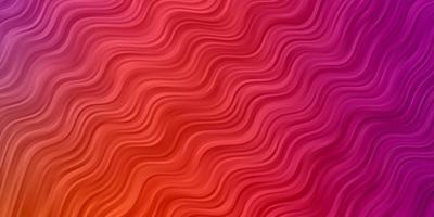 trama vettoriale rosa chiaro, giallo con curve.