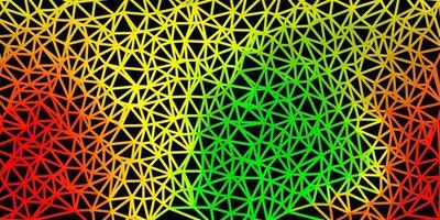 modello di mosaico triangolo vettoriale verde chiaro, rosso.
