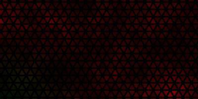 trama vettoriale verde scuro, rosso con stile triangolare.