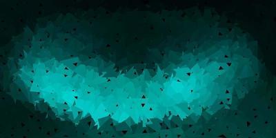 modello di triangolo astratto vettoriale verde scuro.