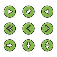 set di icone di frecce vettore