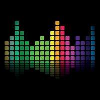 sfondo della barra musicale colorata che mostra il volume. vettore
