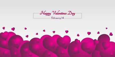 sfondo astratto amore con sfumatura rosa scuro vettore