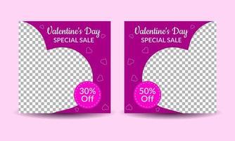 modelli di post multimediali di San Valentino