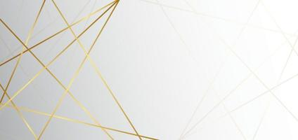 sfondo astratto triangolo bianco e grigio con lusso linea dorata. puoi utilizzare per annunci, poster, modelli, presentazioni aziendali. vettore