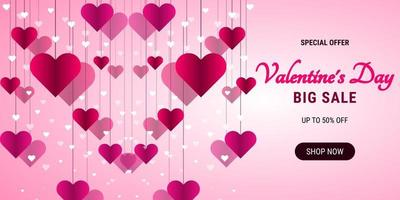 sfondo di vendita di San Valentino