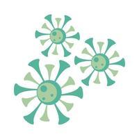 particelle covid19, icone pandemiche vettore