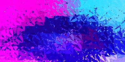 layout vettoriale rosa scuro, blu con forme triangolari.