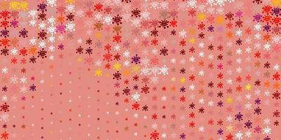 sfondo vettoriale rosa chiaro, rosso con simboli covid-19.