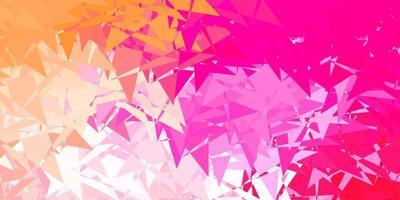 trama vettoriale rosa chiaro con triangoli casuali.