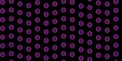 modello vettoriale viola scuro, rosa con elementi magici.