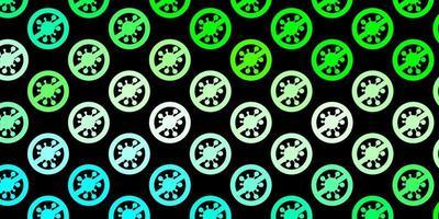 modello vettoriale verde scuro con segni di influenza.