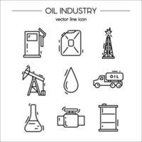 set di icone di industria petrolifera adatto per informazioni grafiche vettore