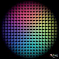 sfondo arcobaleno con cella dello spettro vettore