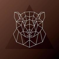testa poligonale astratta di un orso bruno. illustrazione vettoriale. vettore