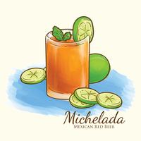 Illustrazione di Michelada vettore