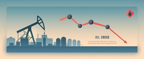 concept design dell'industria petrolifera vettore