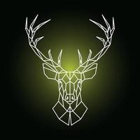 illustrazione geometrica testa di renna. testa di cervo ornamentale. vettore
