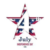 4 luglio giorno dell'indipendenza illustrazione vettoriale