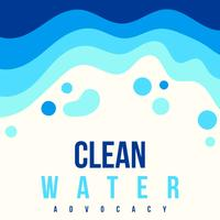 Poster di advocacy sull'acqua pulita vettore