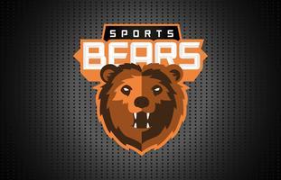 Mascotte di pallacanestro Logo Template Vector