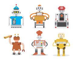 Vettore dei lavoratori del robot